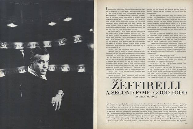 A Second Fame: Good Food—Franco Zeffirelli