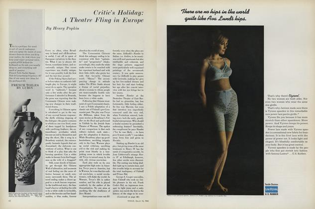 Article Preview: Critic's Holiday: A Theatre Fling in Europe, March 15 1965 | Vogue