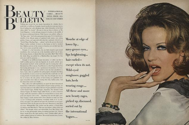 Article Preview: International Cable...Beauty News from all Vogue Countries, March 15 1965 | Vogue