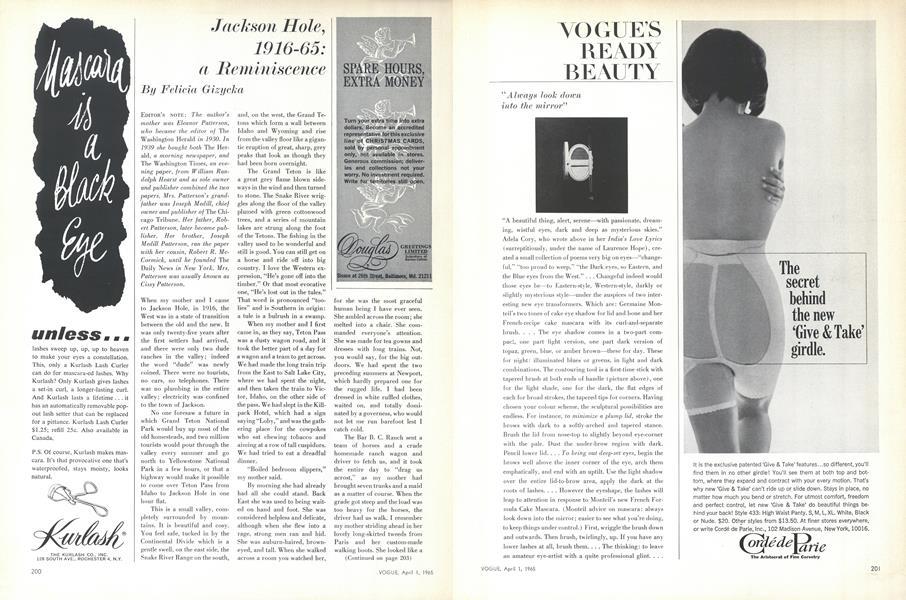Jackson Hole, 1916-65: a Reminiscence