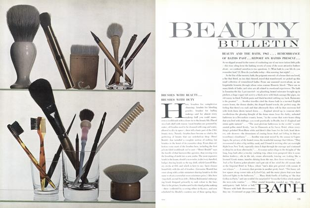 Brushes with Beauty...Brushes with Duty.../Beauty and the Bath, 1965