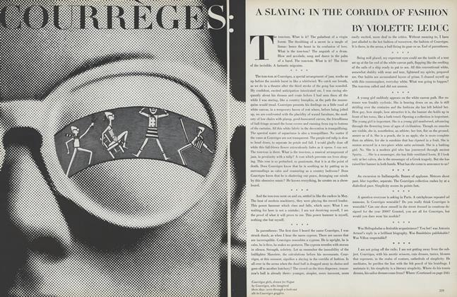 Courreges: A Slaying in the Corrida of Fashion
