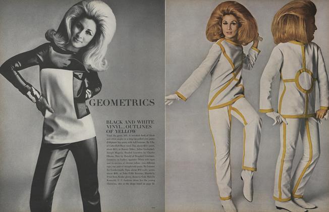 Geometrics: Black and White Vinyl...Outlines of Yellow