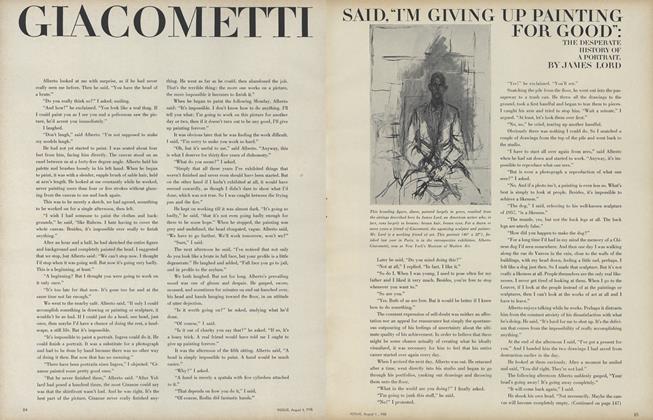 "Giacometti Said, ""I'm Giving Up Painting for Good:"