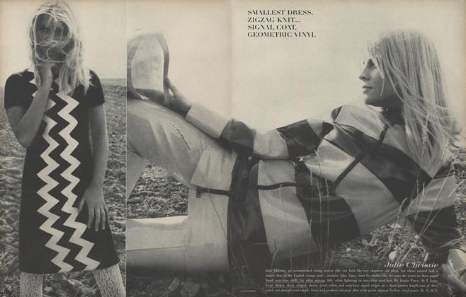 Smallest Dress, Zigzag Knit...Signal Coat, Geometric Vinyl