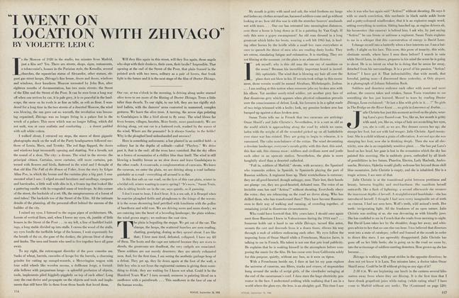 """I Went on Location with Zhivago"""