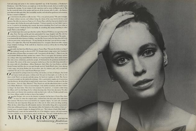 Mia Farrow Wears Breakaway Fashion