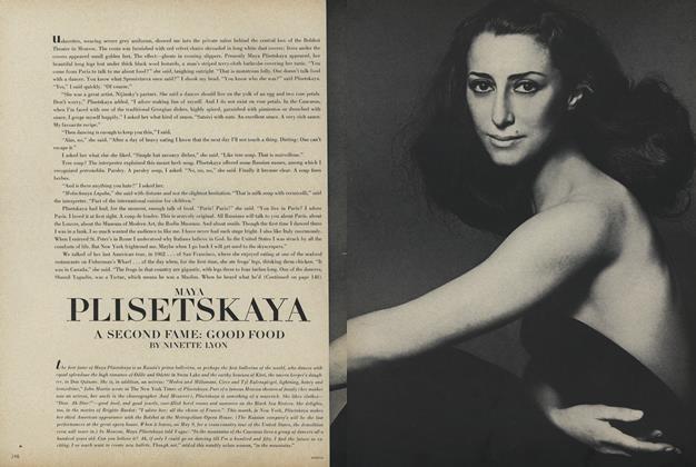 Maya Nisetskaya...Second Fame: Good Food