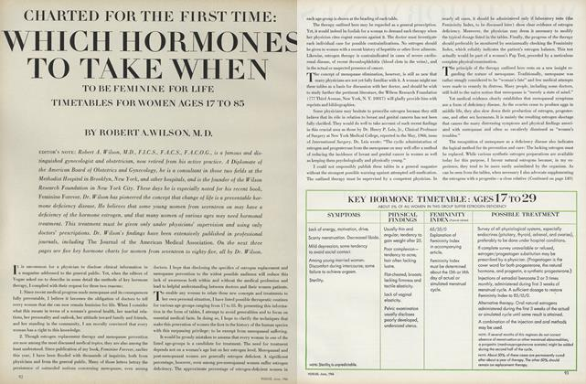 CHARTED FOR THE FIRST TIME: WHICH HORMONES TO TAKE WHEN: TO BE FEMININE FOR LIFE TIMETABLES FOR WOMEN AGES 17 TO 85