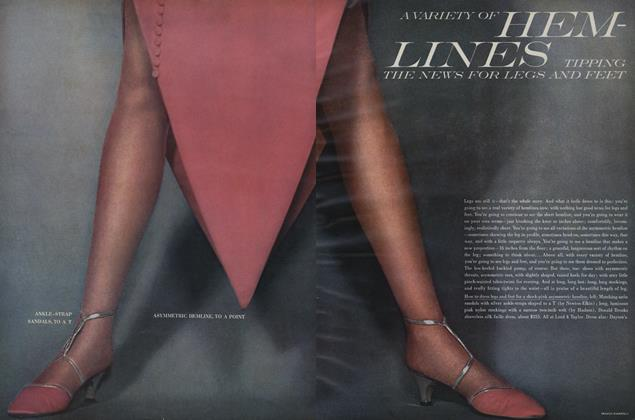 Article Preview: A Variety of hem-Lines Tipping the News for Legs and Feet, August 15 1966 | Vogue