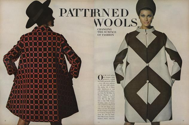 Article Preview: Patterned Wools: Changing the Surface of Fashion, August 15 1966 | Vogue