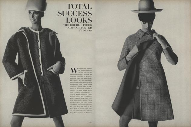 Article Preview: Total Success Looks: the Double-Faced Coat Completed by Dress, August 15 1966 | Vogue