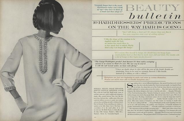 Article Preview: 10 Hairdressers' Predictions on the Way Hair is Going, August 15 1966 | Vogue