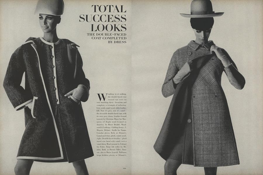 Total Success Looks: the Double-Faced Coat Completed by Dress
