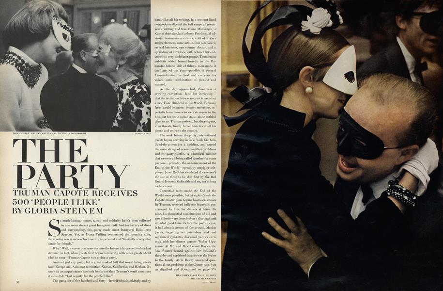 """The Party: Truman Capote Receives 500 """"People I Like"""""""