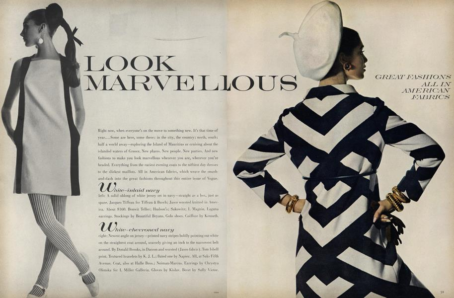 Look Marvellous: Great Fashions All in American Fabrics