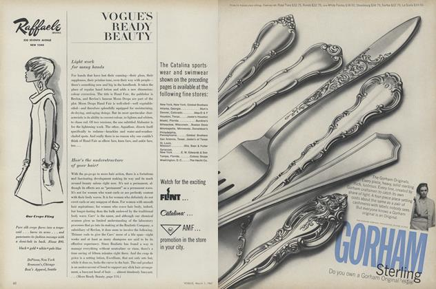 Article Preview: Light Work for Many Hands/How's the Understructure of your Hair?, March 1 1967 | Vogue