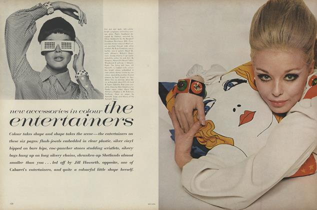 Article Preview: New Accessories in Colour: The Entertainers, March 15 1967 | Vogue