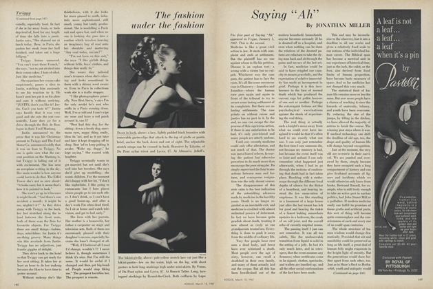 Article Preview: Saying ''Ah'', March 15 1967 | Vogue