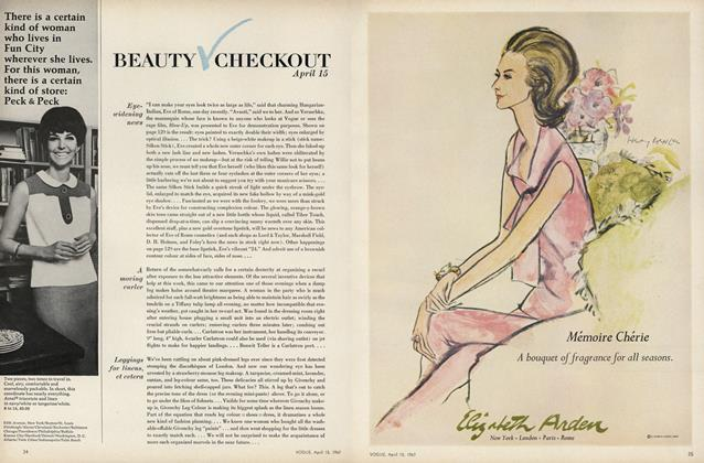 Article Preview: Eye-Widening News/A Moving Curler..., April 15 1967 | Vogue