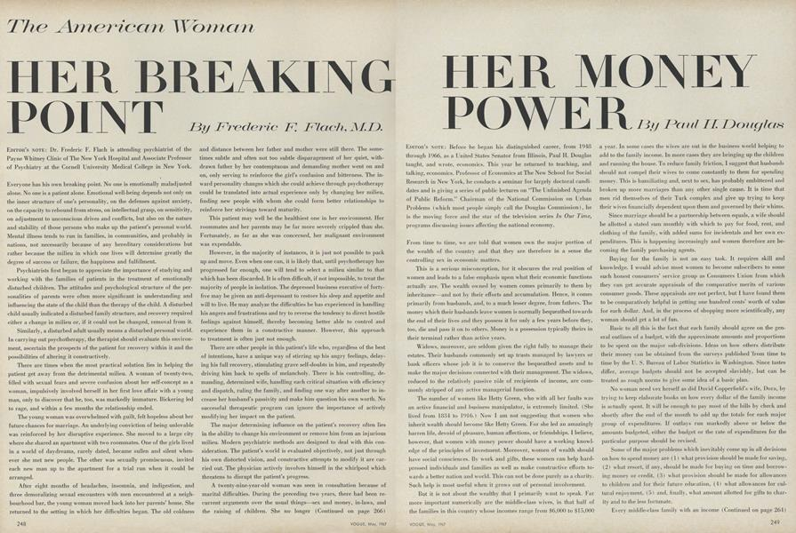The American Woman: Her Breaking Point