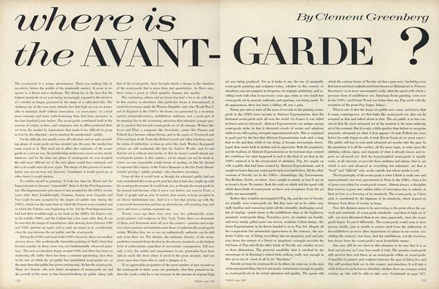 Where is the Avant-Garde?
