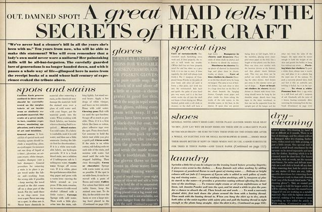 Article Preview: Out, Damned Spot! A Great Maid Tells the Secrets of Her Craft: Spots and Stains, July 1967 | Vogue