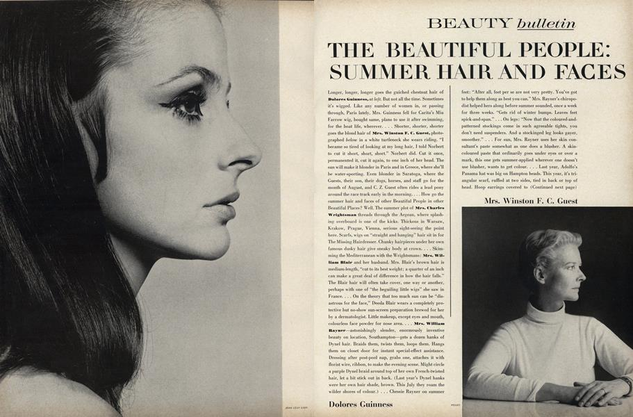 The Beautiful People: Summer Hair and Faces