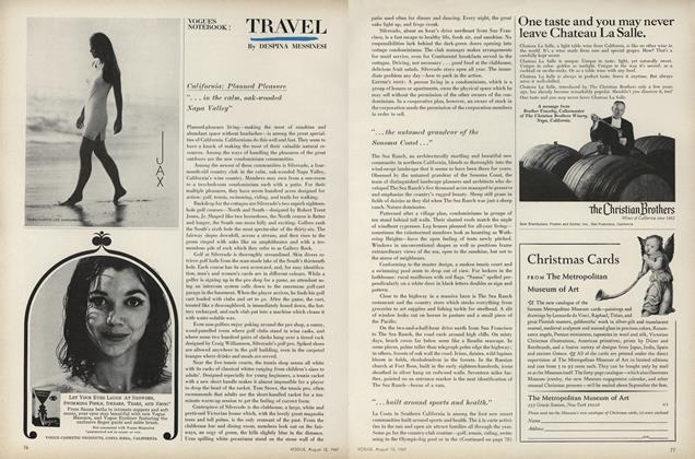 Article Preview: California: Planned Pleasure, August 15 1967 | Vogue