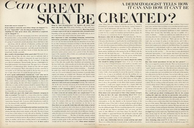 Article Preview: Can Great Skin be Created?, August 15 1967 | Vogue