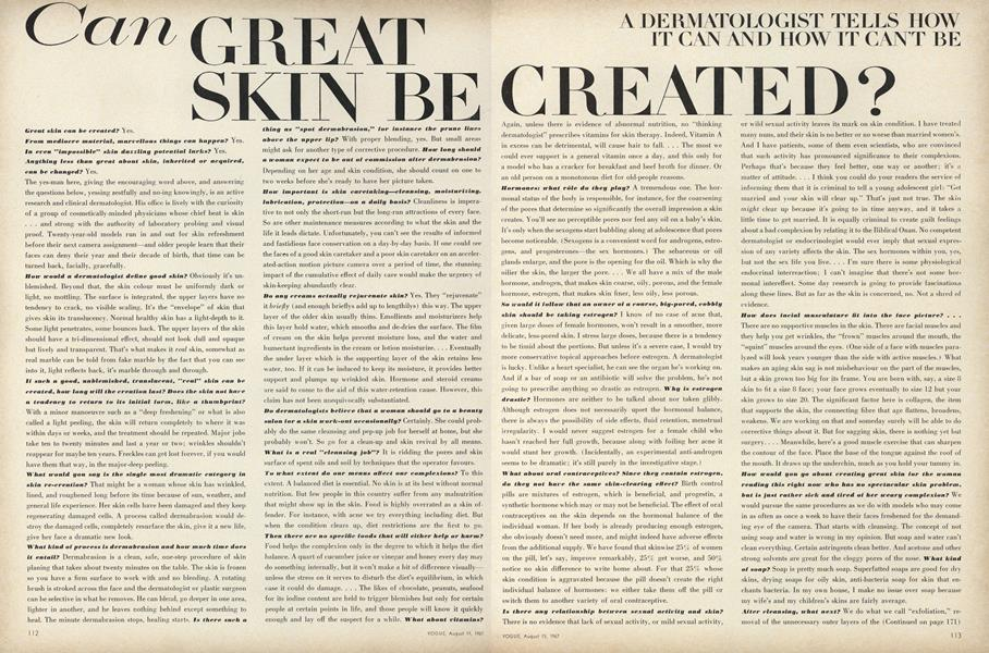 Can Great Skin be Created?