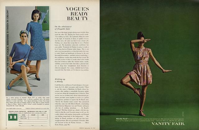 Article Preview: On the Attainment of Flingable Hair/Kicking Up a Shindy..., September 15 1967 | Vogue