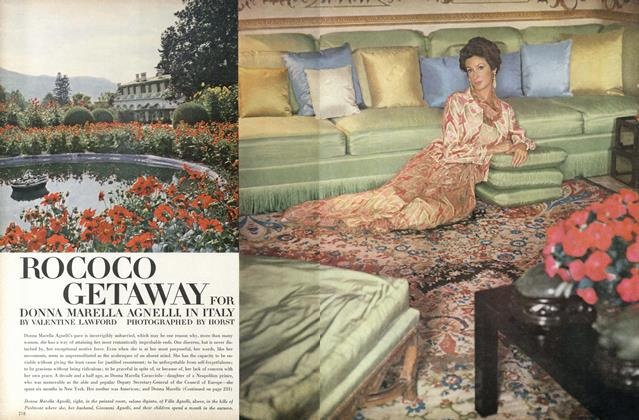 Article Preview: Rococo Getaway for Donna Marella Agnelli in Italy, October 1 1967 | Vogue
