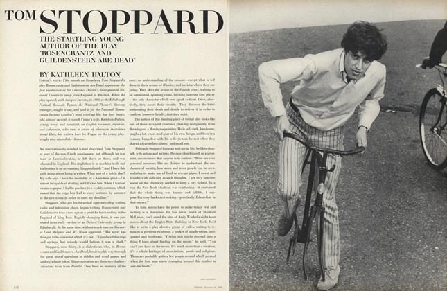 Article Preview: Tom Stoppard, October 15 1967 | Vogue