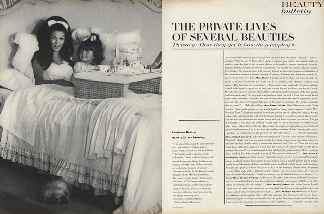 Article Preview: The Private Lives of Several Beauties, October 15 1967 | Vogue