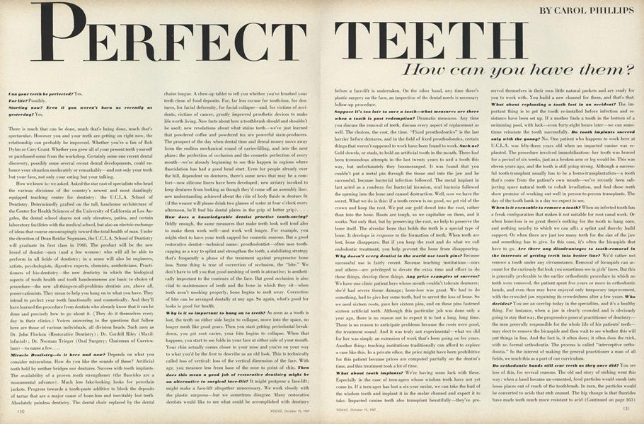 Perfect Teeth: How Can You Have them?