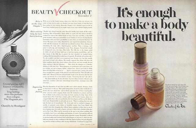 Article Preview: Help is on the Way: Chapter 1/Hair-raising Help for Hair that is Lacking..., November 1 1967 | Vogue