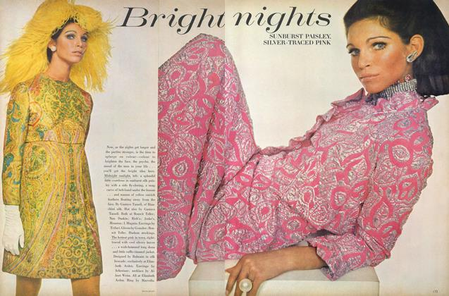 Article Preview: Bright Nights, November 1 1967 | Vogue