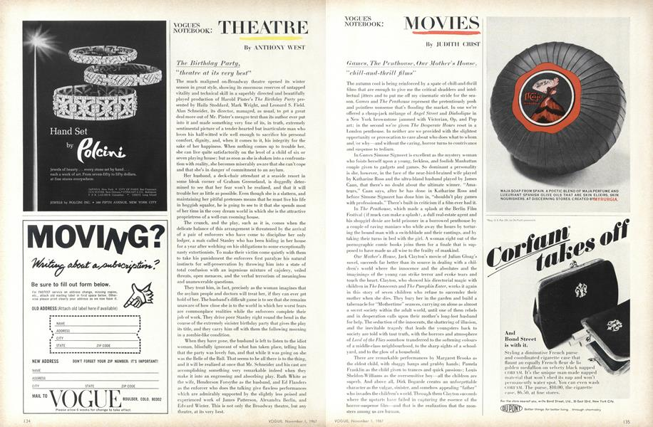 Movies: Games, The Penthouse, Our Mother's House