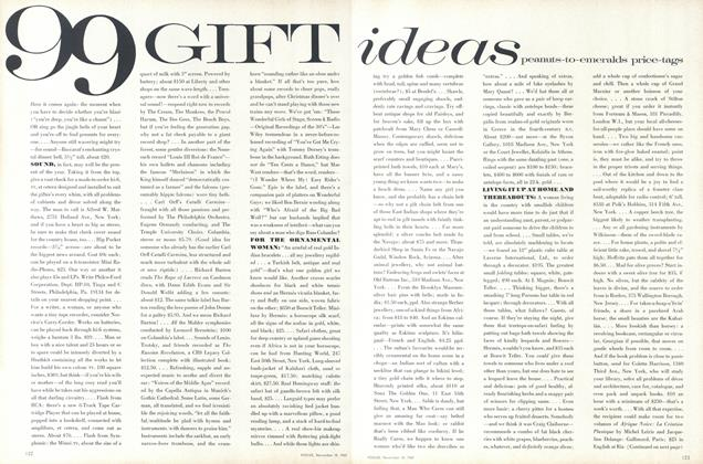 Article Preview: 99 Gift ideas peanuts-to-emeralds price-tags, November 15 1967 | Vogue