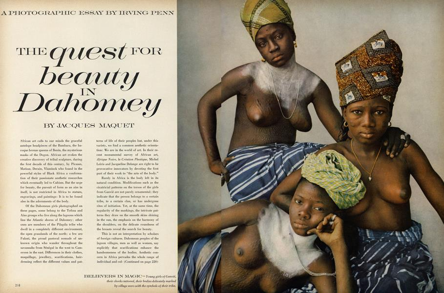 The Quest for Beauty in Dahomey: A Photographic Essay by Irving Penn