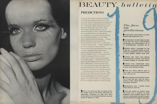 Article Preview: Beauty Bulletin: Predictions, January 1 1968 | Vogue