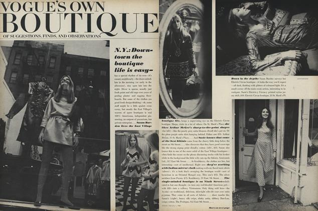 Vogue's Own Boutique of Suggestions, Finds, and Observations: N.Y.: Downtown the Boutique Life Is Easy