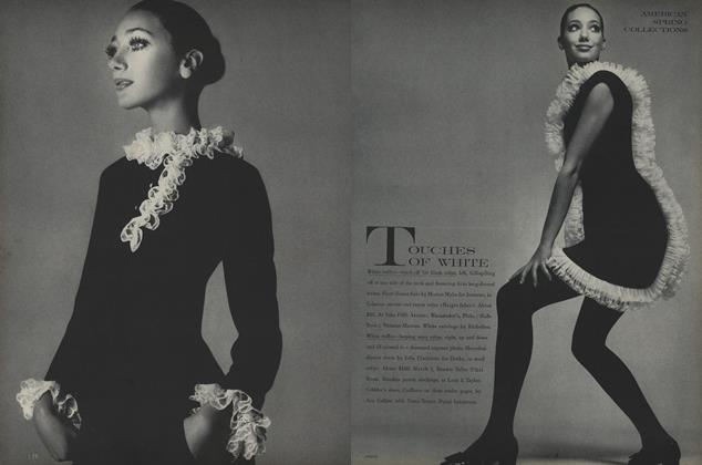 Article Preview: Touches of White, February 1 1968 | Vogue