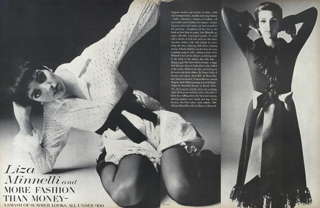 Article Preview: Liza Minnelli and More Fashion Than Money, April 15 1968 | Vogue