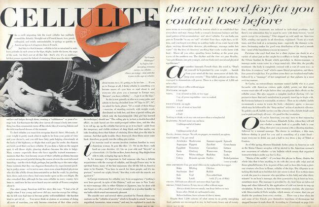 Article Preview: Cellulite, the New Word for Fat You Couldn't Lose Before, April 15 1968 | Vogue