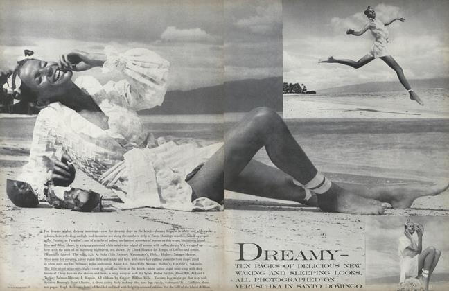 Article Preview: Dreamy - Ten Pages of Delicious New Walking and Sleeping Looks, April 15 1968 | Vogue