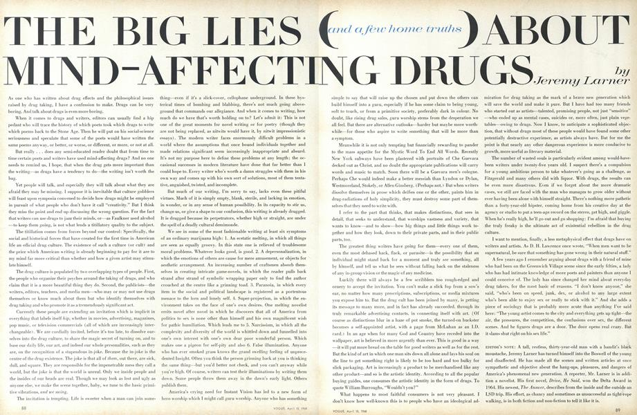 The Big Lies (and a Few Home Truths) About Mind-Affecting Drugs