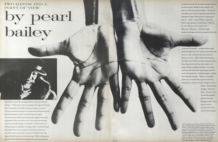 Two Hands and a Point of View: Pearl Bailey