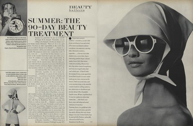 Article Preview: Summer: The 90-Day Beauty Treatment, June 1968 | Vogue